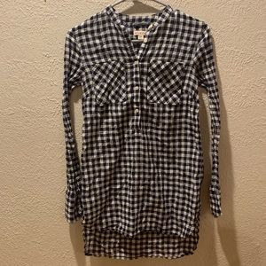 Half button up flannel